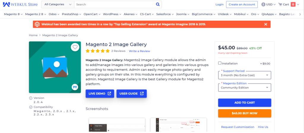 webkul magento 2 image gallery