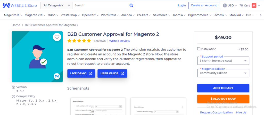 B2B Customer Approval for Magento 2