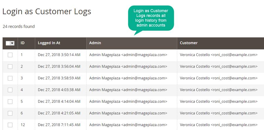 Mageplaza login as customers log