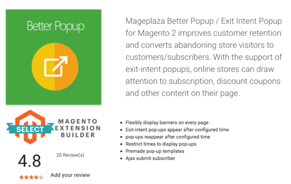 Magento 2 Pop Up Extension by Mageplaza
