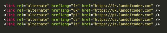 hreflang code