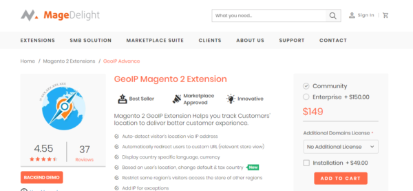 magedelight geoip magento 2 extension