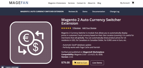 magento 2 auto currency switcher extension