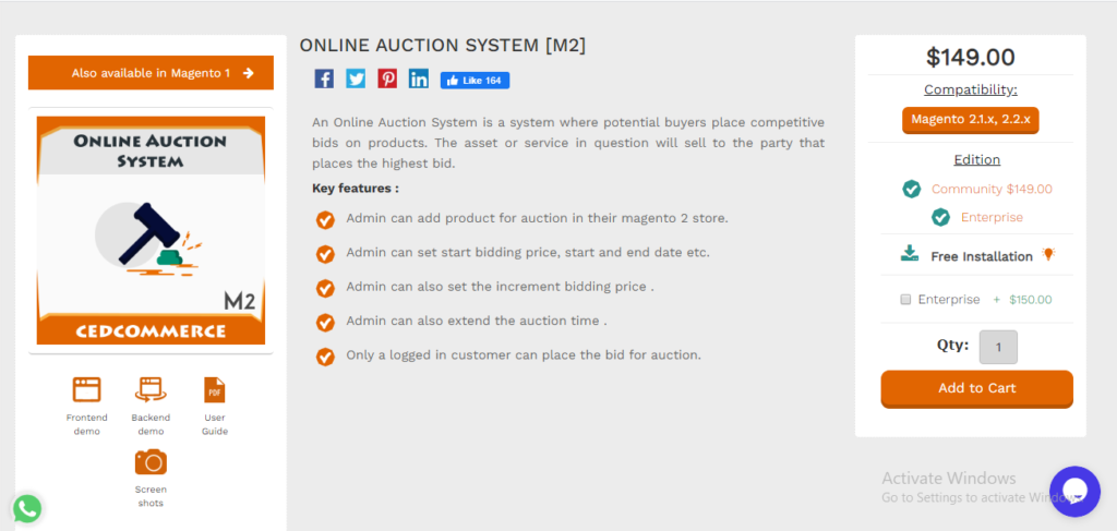 online auction system cedcommerce