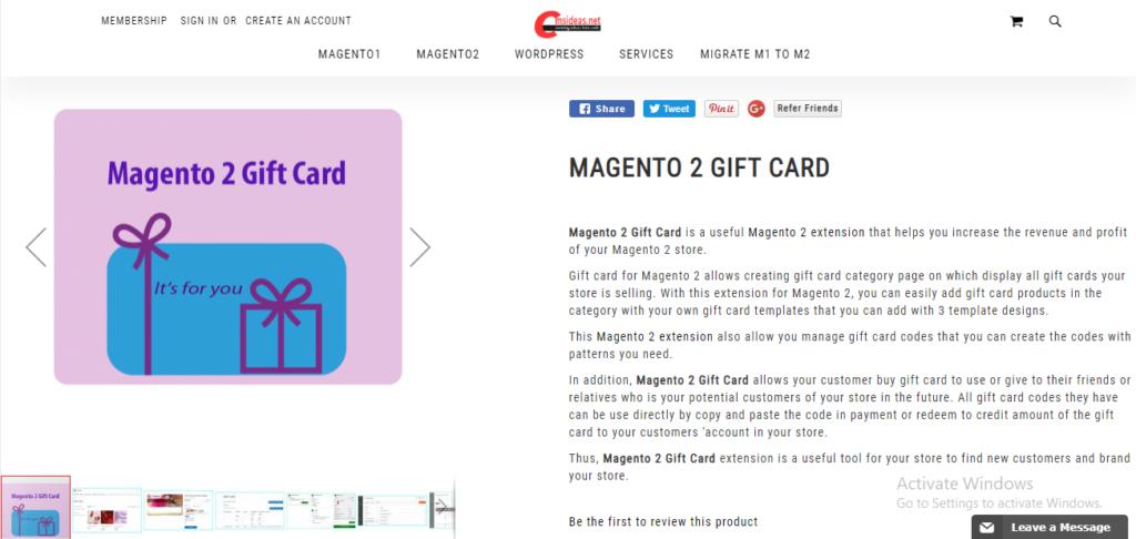 Cmsideas gift card