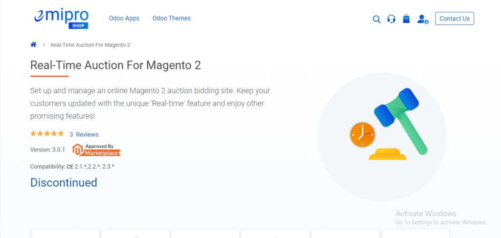 real-time auction for magento 2 emipro