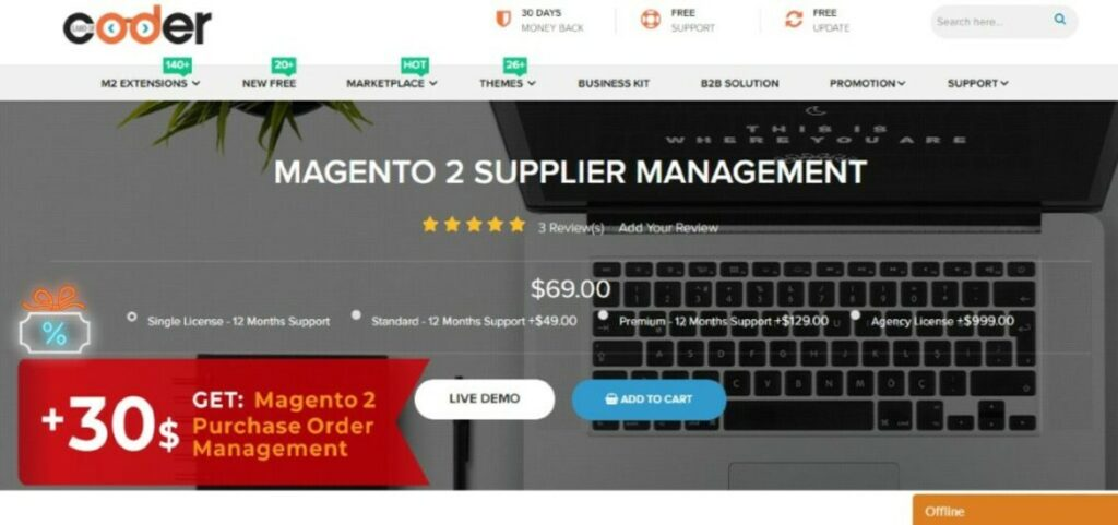 Magento 2 Supplier Management Extension