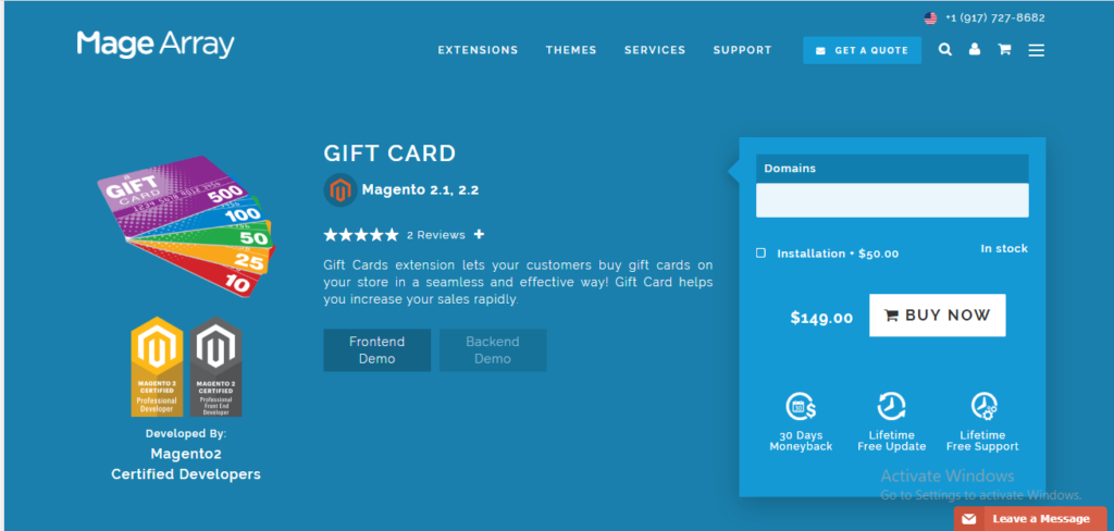 Magearray gift card