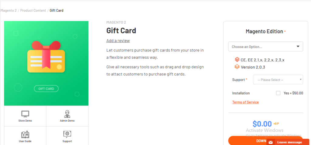 Magenest gift card