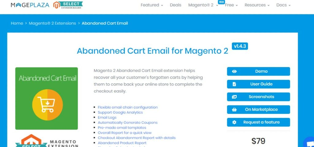 abandoned cart email for magento