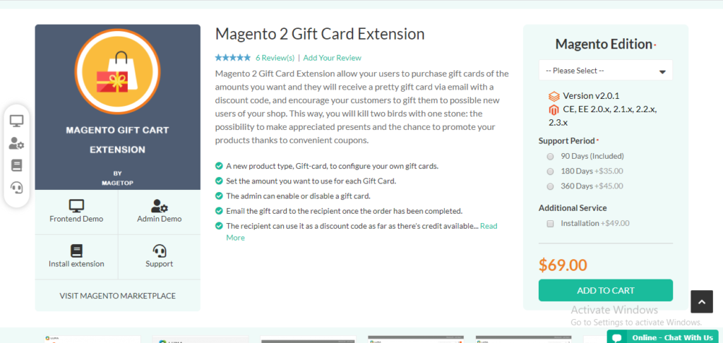 Magetop gift card