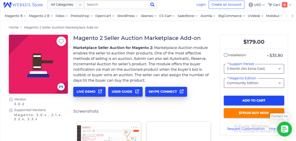 webkul - magento 2 auction