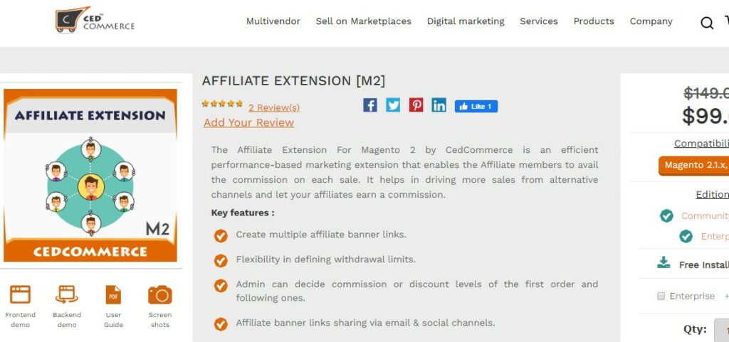 Affiliate Extension For Magento 2 | CedcomMmerce