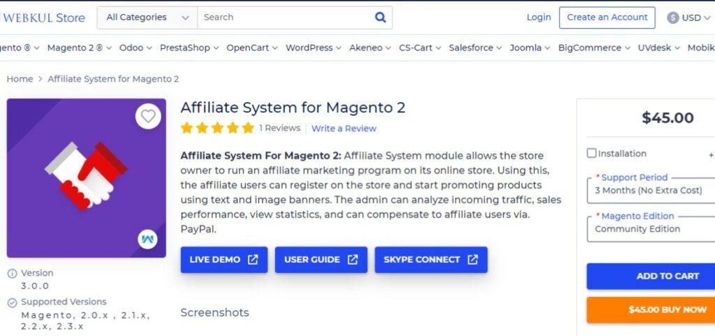 Affiliate System for Magento 2   Webkul