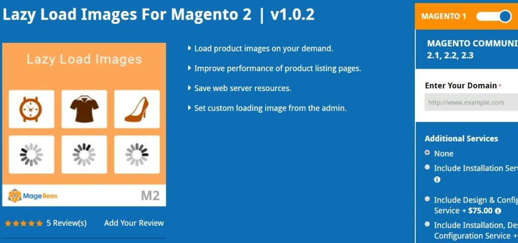 Lazy Load Images For Magento 2 | Magebees