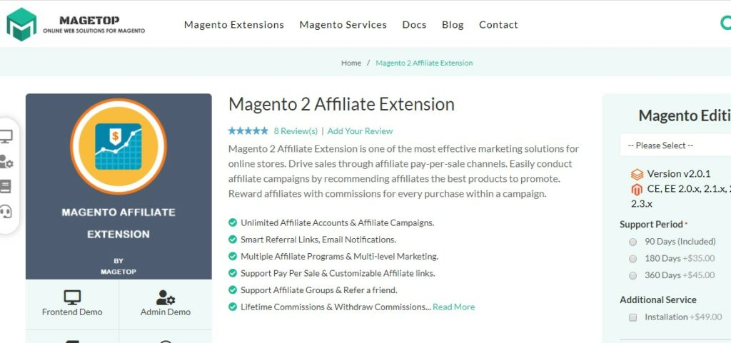 Magento 2 Affiliate Extension | Magetop