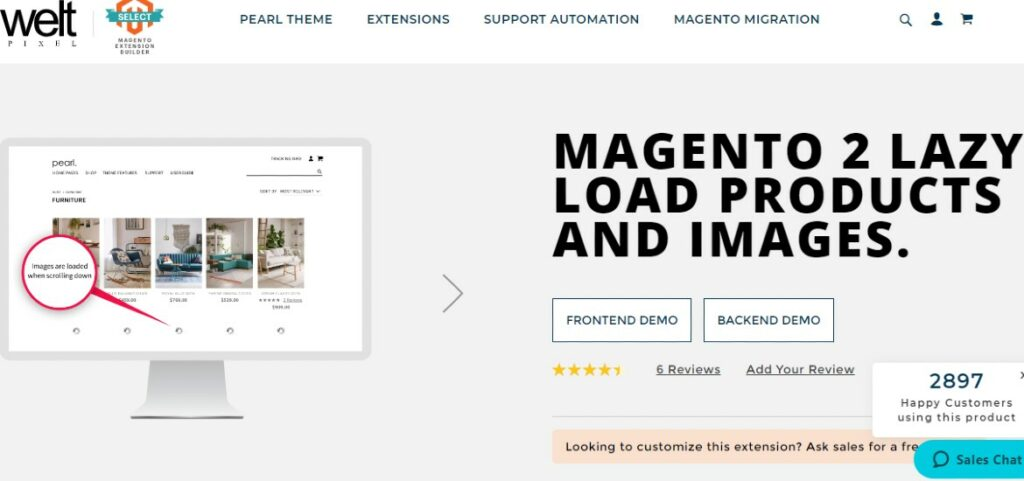 Magento 2 Lazy Load Products and Images | Weltpixel