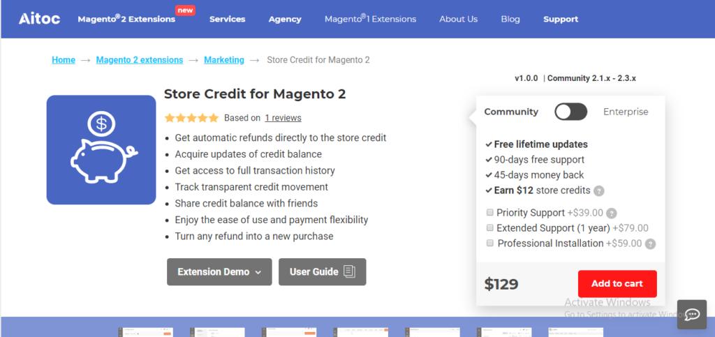 Aitoc store credit