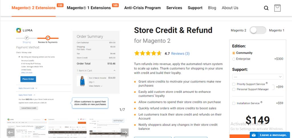 Amasty store credit