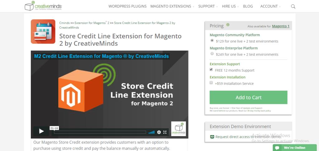 Cminds store credit