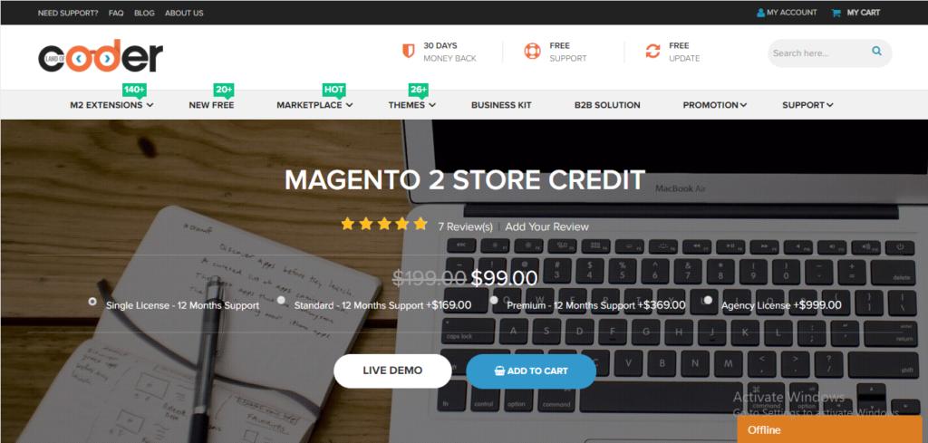 Landofcoder store credit