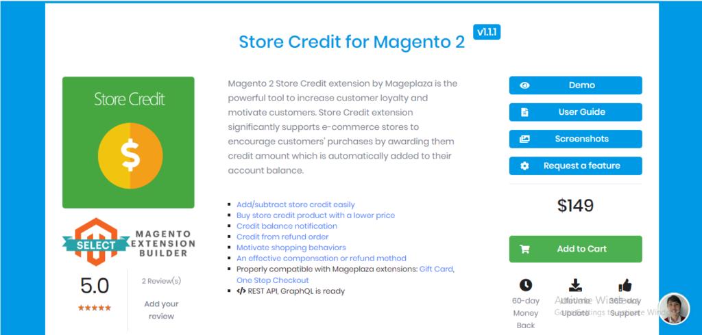 Mageplaza store credit