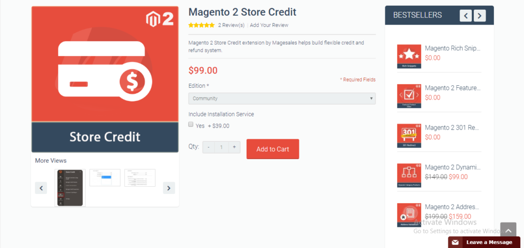 Magesales store credit