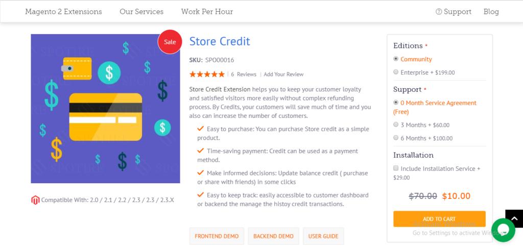 Spozend store credit