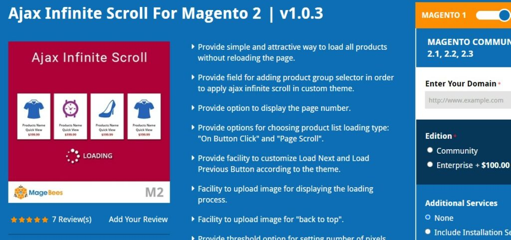 Ajax Infinite Scroll For Magento 2 | Magebees