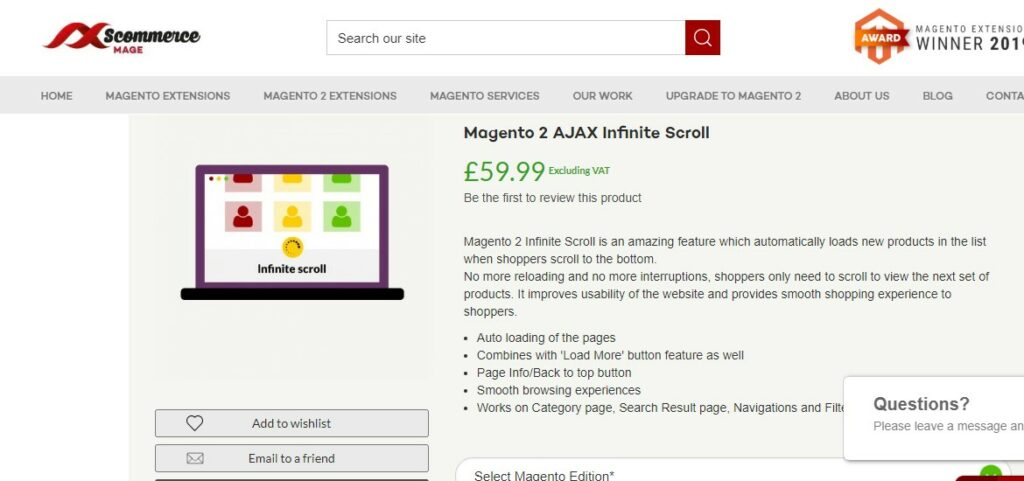 Magento 2 AJAX Infinite Scroll | Scommerce