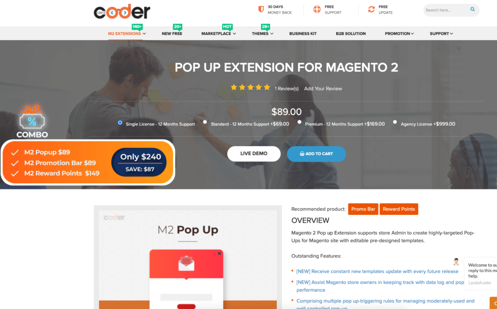 Magento Popup extension from Landofcoder
