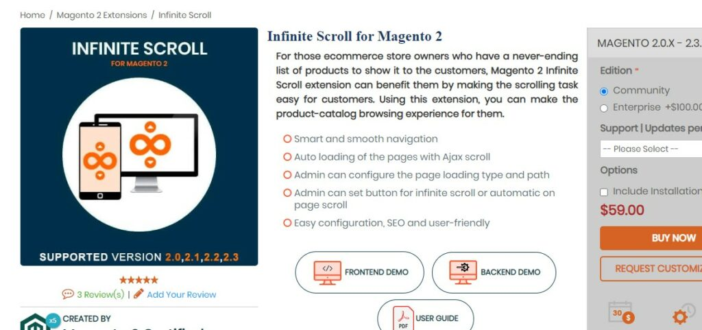 Infinite Scroll for Magento 2 | Mageants