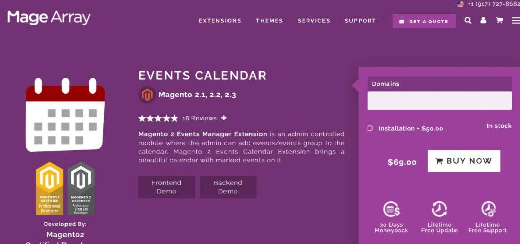 Event Calendar Magearray