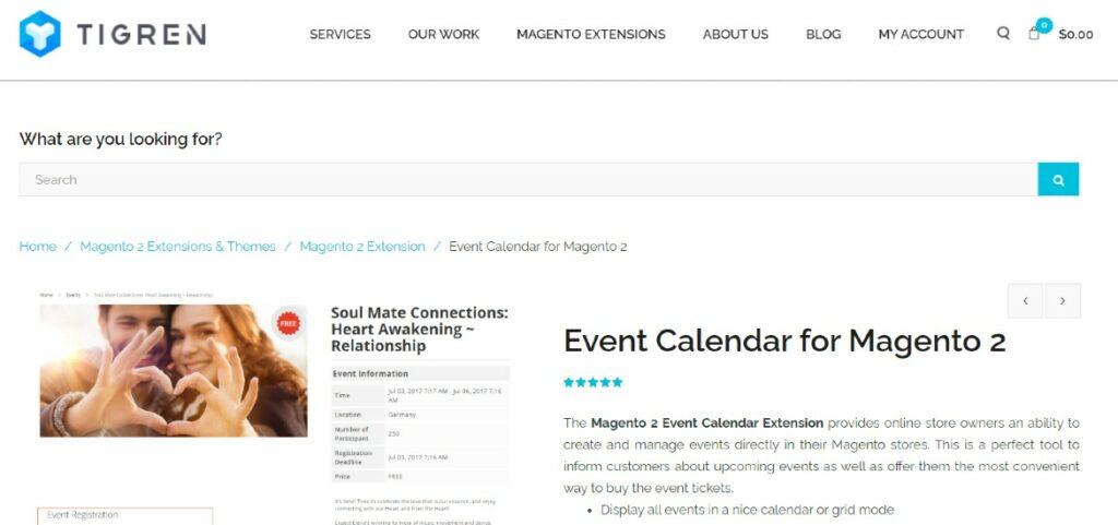 Event Calendar for Magento 2 Tigren
