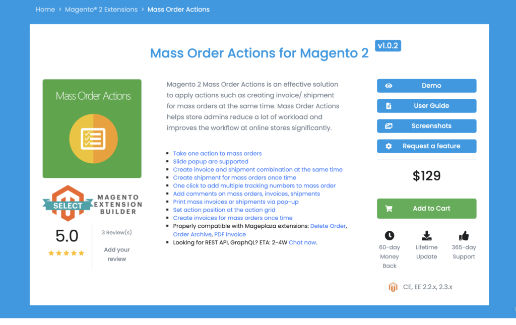 Mass Order Actions for Magento 2 Mageplaza