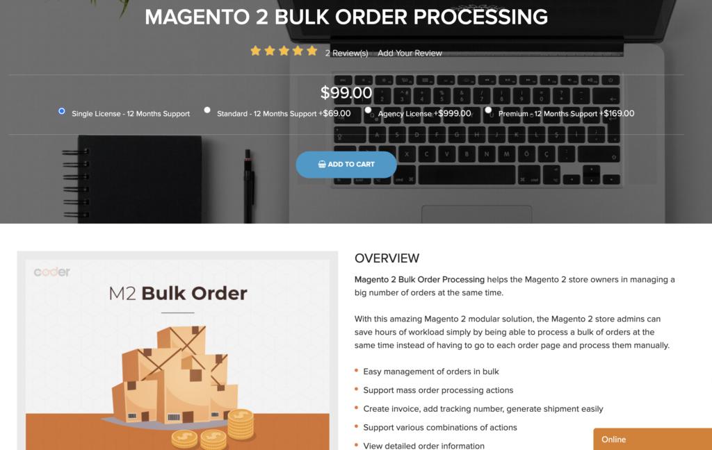 Magento 2 Bulk Order Processing Landofcoder