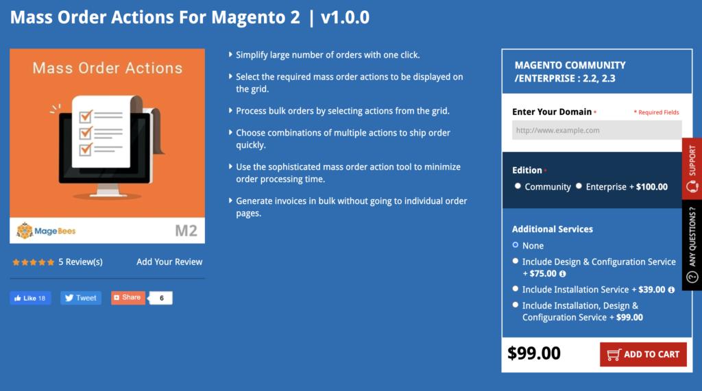 Magento 2 Mass Order MageBees