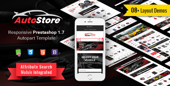 PrestaShop Theme SP Autostore Landofcoder and Magentech cooperation