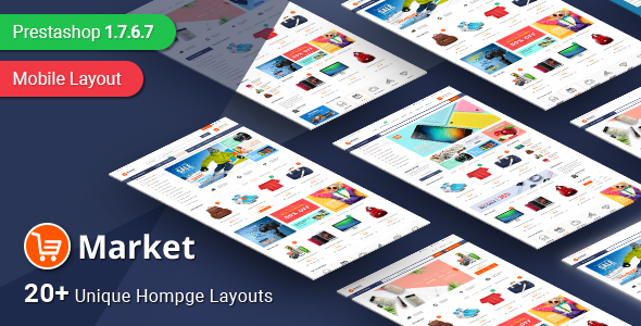 PrestaShop Theme SP Market from Magentech
