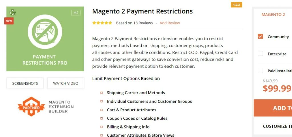 Magento 2 Payment Restrictions FMEExtensions