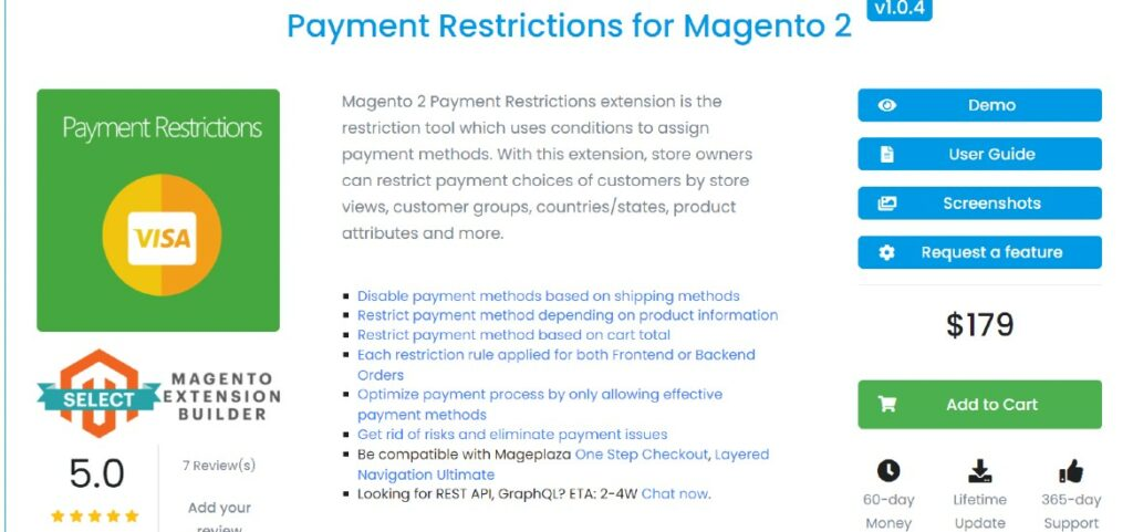 Payment Restrictions Mageplaza