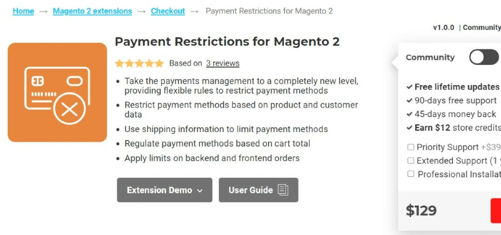 Payment Restrictions for Magento 2 Aitoc