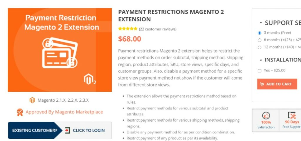 Payment Restrictions for Magento 2 Extension Cynoinfotech