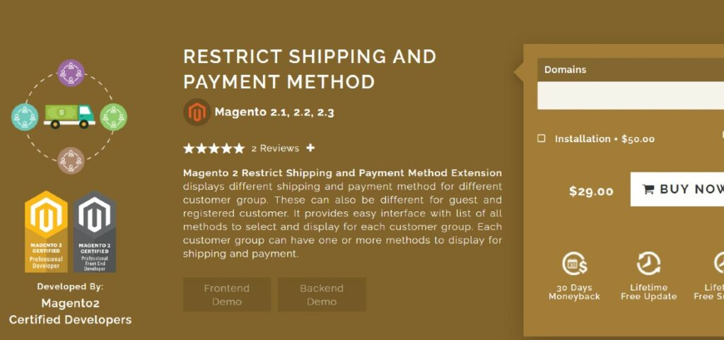 Restrict Shipping & Payment Method Magearray