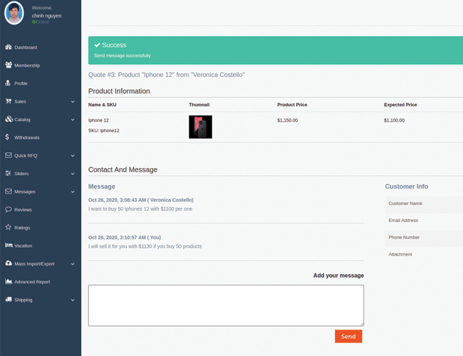 magento 2 marketplace quote Negotiate with customers by replying quotes