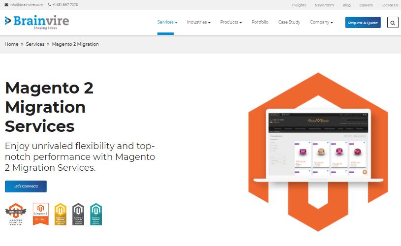 brainvire magento 2 migration service provider