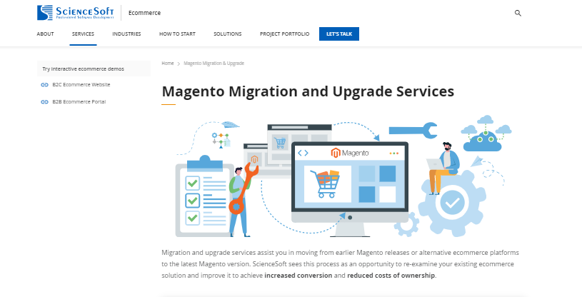 magento migration and upgrade services