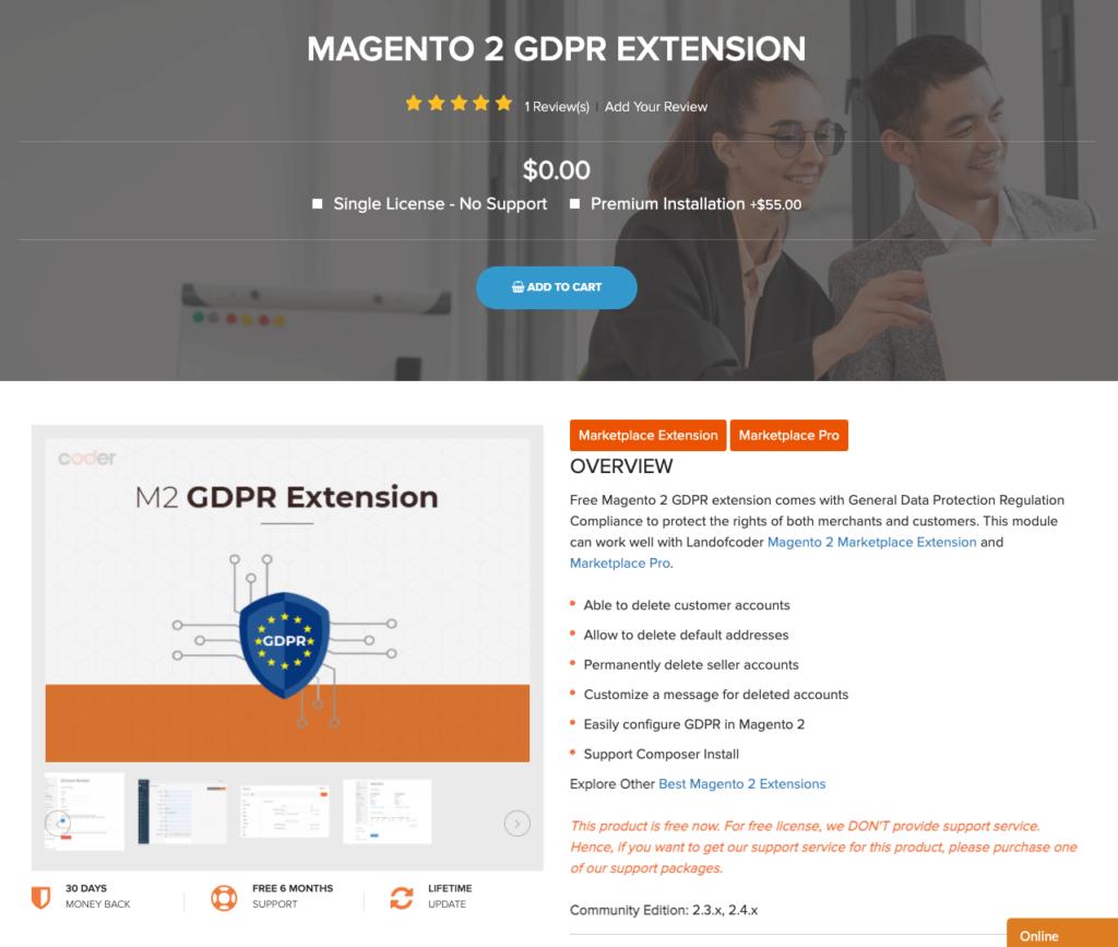 magento 2 GDPR extension Landofcoder