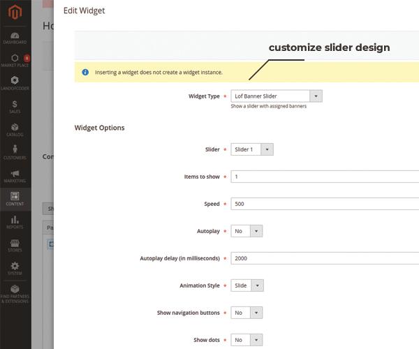 customize magento 2 banner slider