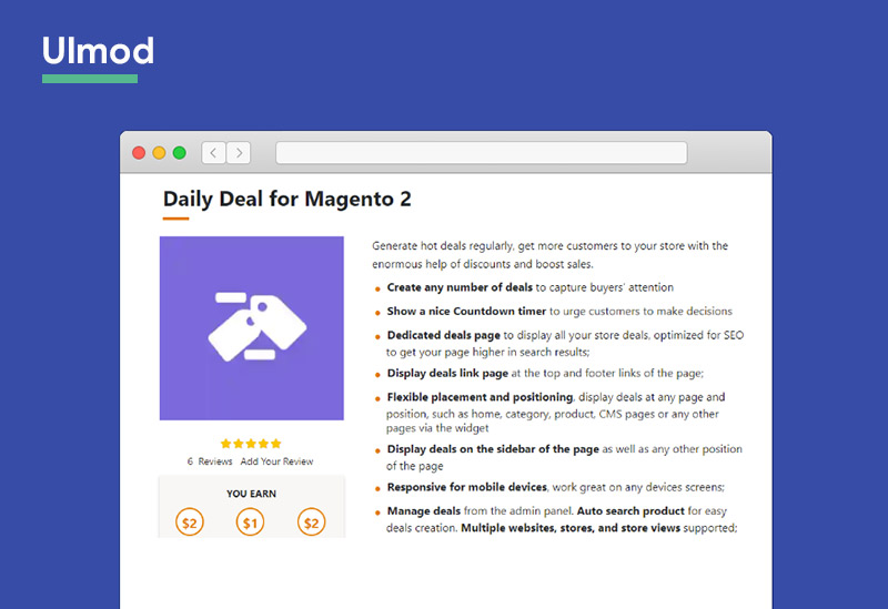 Daily Deal For Magento 2 Extension Ulmod